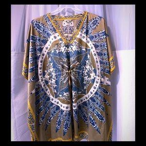 Dresses - Kaftan mini dress / tunic/ cover up